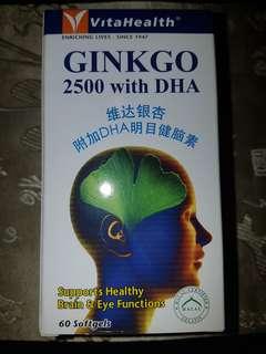 VitaHealth Ginkgo 2500 with DHA ( 60 Softgels )