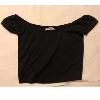 Garage: Black Crop Top... Size: XS