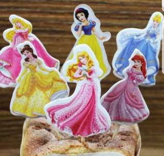 Disney princess Cake/Cupcake/Muffin Toppers for Party Decoration