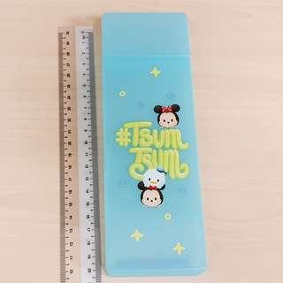 Disney Tsum Tsum Blue Mickey, Minnie and Donald Plastic Stationery Pencil Case