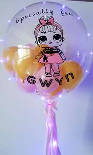 "24"" Customized Deco Clear LOL Surprise Doll Balloon"