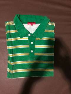 Padini Authentics Stripes Polo Shirt Green Size L