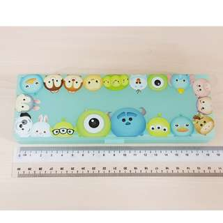 Disney Tsum Tsum Green Monster University and Assorted Characters Plastic Stationery Pencil Case