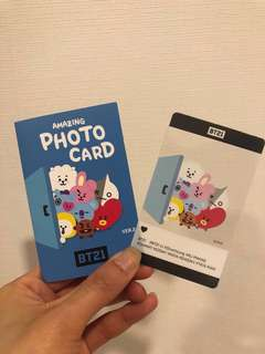 BT21 Olive Young Photocard