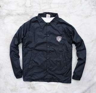 Black White Snowboard Coach Jacket