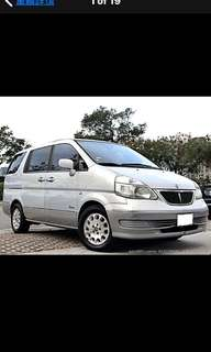 2002年日產QRV 2.0頂級7人座 車況完善 可履約保證無重大事故泡水