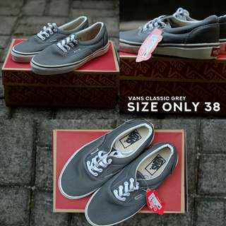 Vans Authentic Grey Only size 38