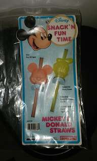 美國絕版Donald Duck 唐老鴨及Micky米奇老鼠飲管