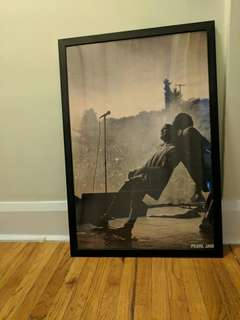 Pearl Jam poster with frame