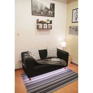2 Seater Sofa - Black Vienna