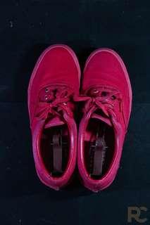 Monochrome Red Vans