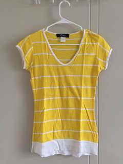 Cinderella Yellow Striped Shirt