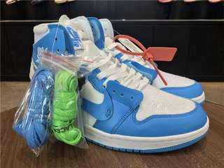 Authentic Nike Air Jordan 1 X Off White UNC