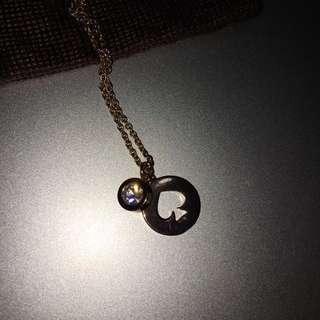 Kate Spade Necklace (Spot The Spade Logo)
