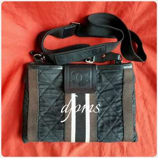 ✔CHANEL BAG QUILTED CANVAS SLING BODY BAG