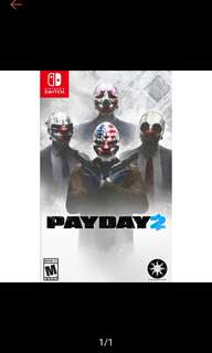 🚚 Payday 2 Nintendo Switch