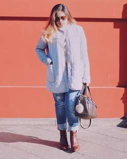 Light Blue Winter Coat
