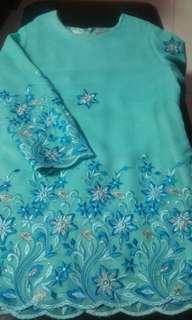 BN Tiffany Blue/Turquoise Green Kurung
