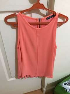 Mango sleeveless top blouse