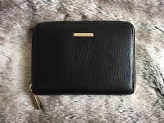 Danier Black Leather Zip Wallet