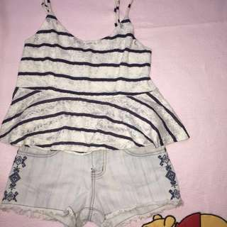 F&H STRIPES CROPTOP