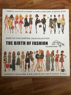 Fashion: adult coloring book