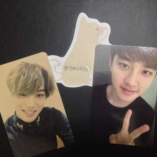 EXO KAI & D.O. OFFICIAL PHOTOCARD