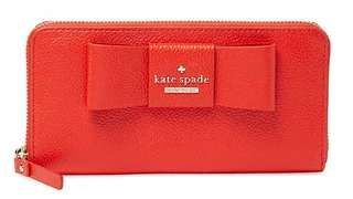 Authentic Kate Spade Lacey Grained Leather Zip Around Wallet
