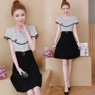 🚚 (L-5XL) Large size women's summer 2018 new thin Western style A word skirt