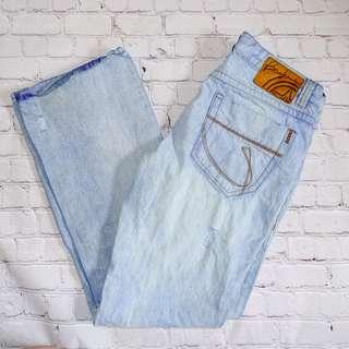 Mens Bauhaus Ripped Light Jeans