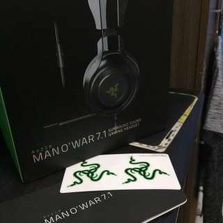 Razer ManO'War 7.1 No Issue Complete Package