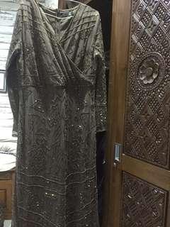 zalia long dress coklat