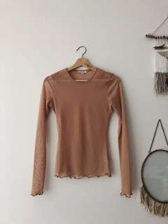 Sheer long-sleeve