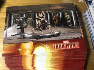 Iron man 3 collection card 31 張