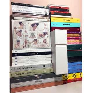Kpop albums (BTS, Seventeen, Exo, SNSD [Girls Generation], Twice)