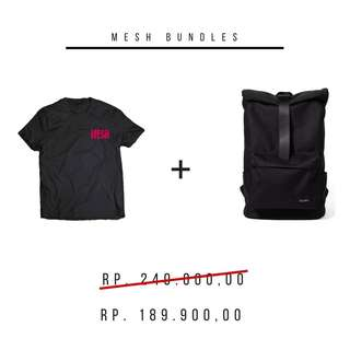 Tas Backpack LITE 322 + T-shirt by MESH