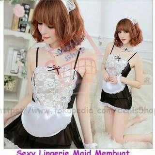 Sexy lingerie maid costum uniform