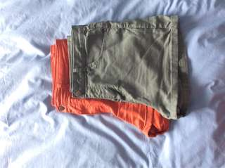 Forever 21 high waisted coloured shorts