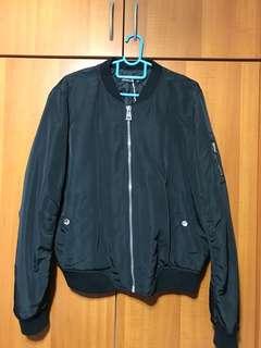 Black Bomber Jacket (thick padding)
