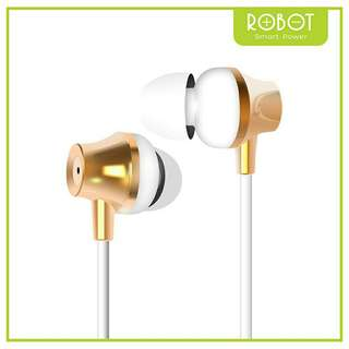 Headset Earphone Robot RE-P03 Nail Shape Mini Wired - Gold