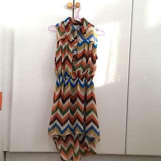 High-Low chevron dress