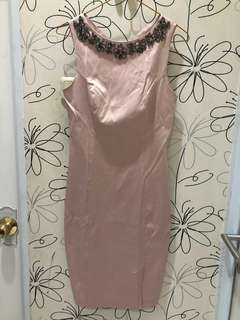 Soft pink taffeta dress