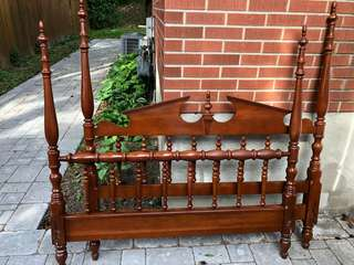 Colonial Style Full Size Headboard and footboard