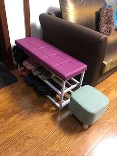 Shoe changing stool & rack