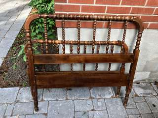 Vintage Spindle Style twin  Headboard and Footboard