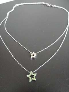 2-layered star necklace