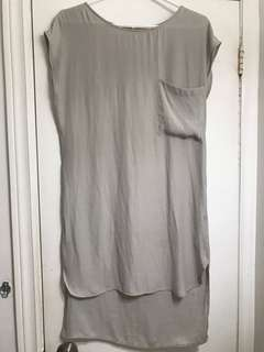 Oak and Fort crepe shirt dress (grey)