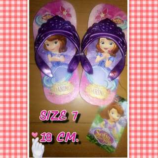 Girl Slippers SOFIA THE FIRST 18CM SIZE 7