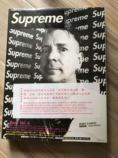 Supreme Book Vol 6 雜誌 貼字 Stickers