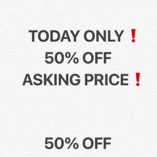 Today ONLY 50% OFF all asking price❗️❗️❗️